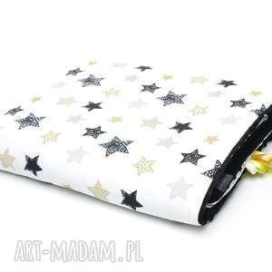 KOCYK KOŁDERKA 100x135 minky bawełna czarne gwiazdki/czarny, kocyk, koc, kołderka