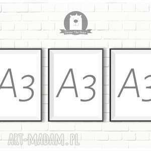 ZESTAW PLAKATÓW 3xA3 - dowolny z naszych wzorów, plakaty, obrazki, zestaw, a3, format