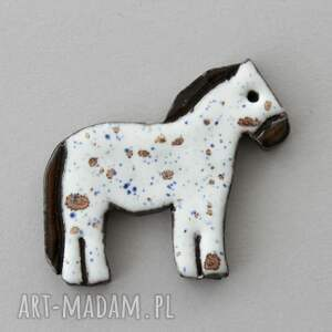 kucyk - broszka ceramiczna, koń, minimalizm, design, jeansy, skandynawski, praca