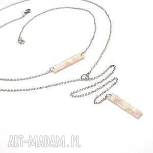 handmade naszyjniki alloys collection - pink marble
