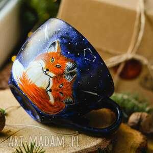 ręczne wykonanie kubki kubek - fox love