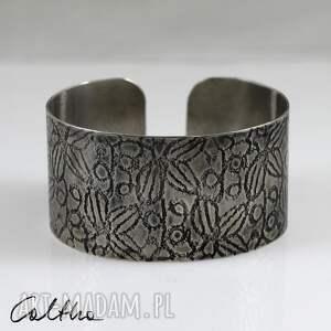 ręcznie wykonane bransoletki *liście - metalowa bransoleta