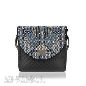 TOREBKA PURO 1509 AZTEC BLUE, puro, klapkomania, pikowana, aztecka, aztec