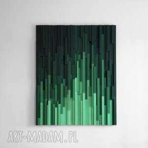 """Obraz drewniany 3d mozaika drewniana """"emerald city"""" dekoracje"""