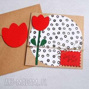 just for you kartka uniwersalna tulipan, urodziny, urodzinowa, dzień matki