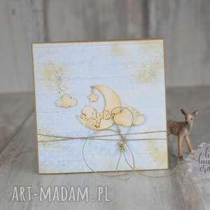 scrapbooking kartki narodziny dziecka - kartka okolicznościowa, chłopiec