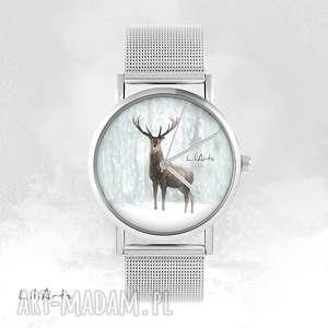 Prezent Zegarek, bransoletka - Jeleń 3 - metalowy, metalowa