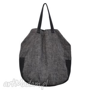 na ramię 06-0005 szara torba worek xxl zakupy swallow maxi, duże, torebki