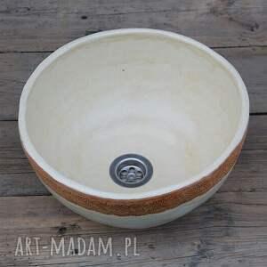 ceramika umywalka w koronce, unikatowa umywalka, polska ceramika, rustykalna