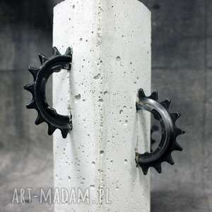 świecznik piła, betonowy, duży, industrialny, loftowy, surowy, metalowy, święta