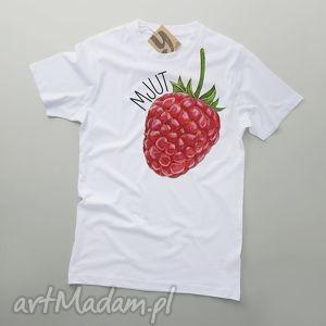 ręcznie wykonane koszulki mjut malina owocowy tshirt