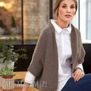 Sweter evora swetry b a o l swter, merino, wełniany, dziergany