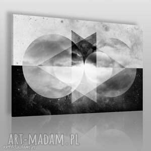 obraz na płótnie - abstrakcja geometria 120x80 cm 40501, koła, trójkąty, chmury