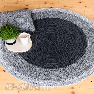 rabarbar handmade dywan 110 cm ze sznurka bawełnianego, dywan, sznurek, bawełniany
