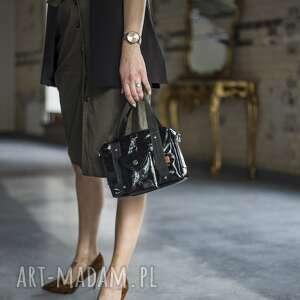 torebki kuferek black glam z saszetką, czarna torebka, torebka kuferek