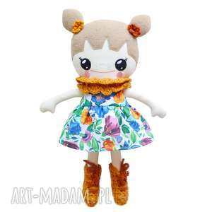 Bawełniana Lalka LALALILA - Poofy Cat, lalka, laleczka, lala, kwiaty, kołnierzyk