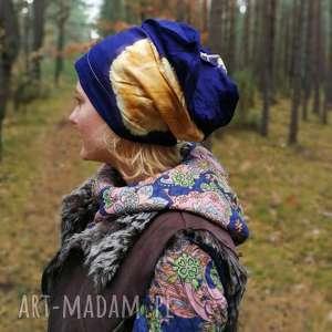 czapka damska styl etniczny boho - sport, boho, kolorowa, rekonwalescencja, etno, folk