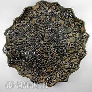 handmade ceramika patera ceramiczna - korpnka