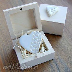 handmade ślub serduszko w kuferku