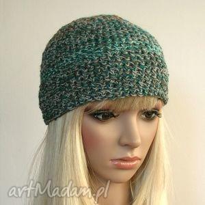 melanż kolorów - czapka - czapka, ciepła, przylegająca, ozdobna, kolorowa