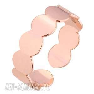 pierścionek z różowego złota - uniwersalny, dopasowany