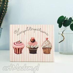 słodka szkatułka, decoupage, herbaciarka, słodka, różowa, prezent na
