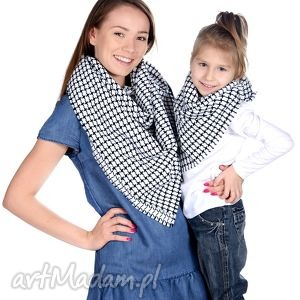 komplet chusta mama i córka - białe chustki i apaszki, dzieczynki