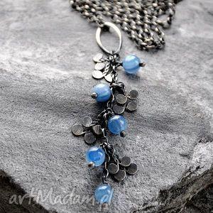 błękitny kianit - srebrny wisiorek, srebro, kianit, subtelny, romantyczny