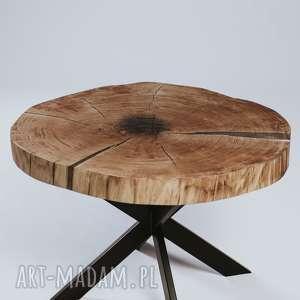 stolik kawowy dębowy z plastra drewna, dębowy, plaster