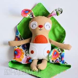 królik dzidziuś anetka - królik, dzidziuś, komplet, folk, dziecko, zabawka