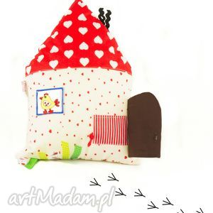 ręcznie robione zabawki domek sensoryczny mały