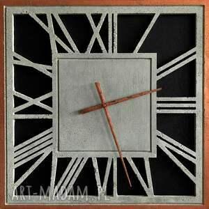 graycrafters zegar ścienny z betonu handmade betonowy emperor duży kwadratowy