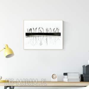 obraz malowany ręcznie 40 x 30 cm, abstrakcja , minimalizm, obraz-ręcznie-malowany