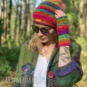 handmade czapki komplet czapka i rękawiczki mille colori