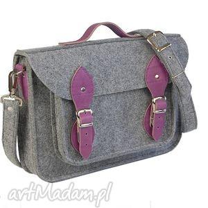 Filcowa torba na ramię, filc, torba, skóra, laptop, komputer
