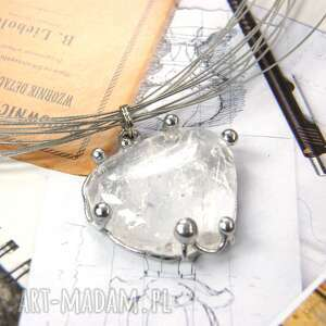 hand made naszyjniki naszyjnik: z naturalnym kryształem