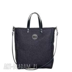 pracownia mana czarna torebka cuboid all black #plecionka czarna, modna, pojemna