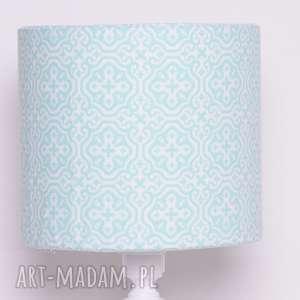 abażur marrakech mint 25x25x22cm od majunto - abażur, abażur-mozaika