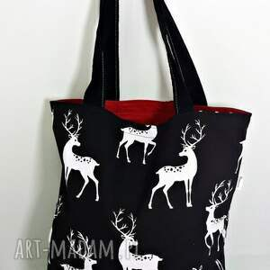 Torba na zakupy ekologiczna Shopperka jelenie, torba, torba-na-zakupy, shopperka