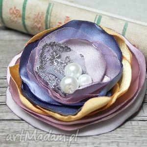 handmade broszki elegancka broszka, kwiat, prezent dla niej