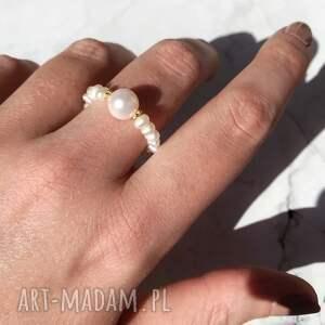 pierścionek - perła, perły, kamienie naturalne, pierścionek