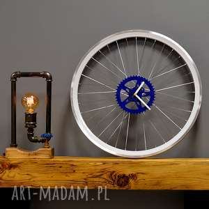 ZEGAR BLUE BIKES BAZAAR, zegar, industrialny, duży, rower, koła, ścienny