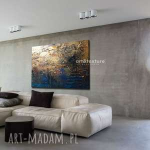 industrialna abstrakcja - abstrakcyjne obrazy do modnego salonu, modne obrazy, grubo
