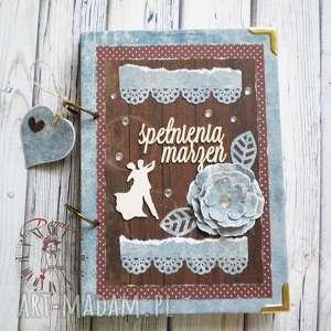 Stylowy notatnik vintage/spełnienia marzeń..., zeszyt, notatnik, pamiętnik, taniec