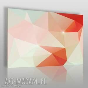 obrazy obraz na płótnie - kryształ czerwony pomarańczowy 120x80 cm 62505