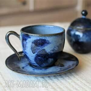 ceramika filiżanka z cukiernicą głębia ceramiczny zestaw do kawy