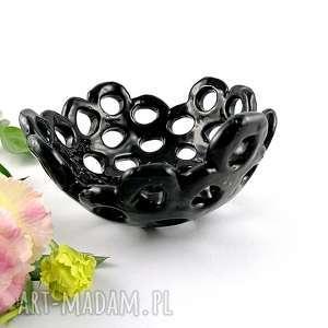miska ceramiczna - ażur, miska, sztuka, dekoracje, patera, prezent, kichnia
