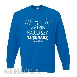 bluza z nadrukiem dla wędkarza, prezent najlepszy wędkarz, wędkarstwo, łowienie