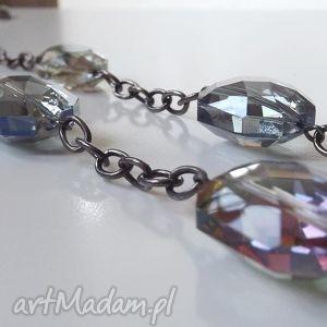 naszyjniki naszyjnik z kryształami, naszyjnik, kryształ, łańcuch, oksydowany