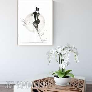 ręczne wykonanie dekoracje grafika 30x40 cm wykonana ręcznie, abstrakcja, elegancki